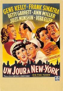 Un Jour a New York, Gene Kelly, Franks Sinatra Movie Poster Postcard
