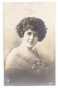Beautiful Woman Pretty Lady Real Photo PFB 1919