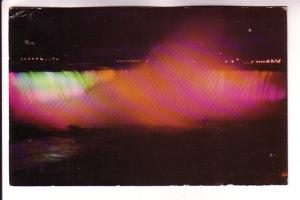 Coloured Lights, Illuminating Horseshoe Falls, Niagara Falls Ontario, Jordan'...