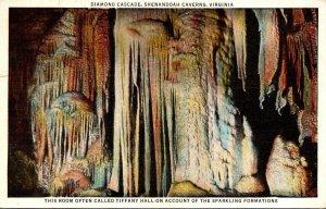 Virginia Shenandoah Caverns Diamond Cascade 1948