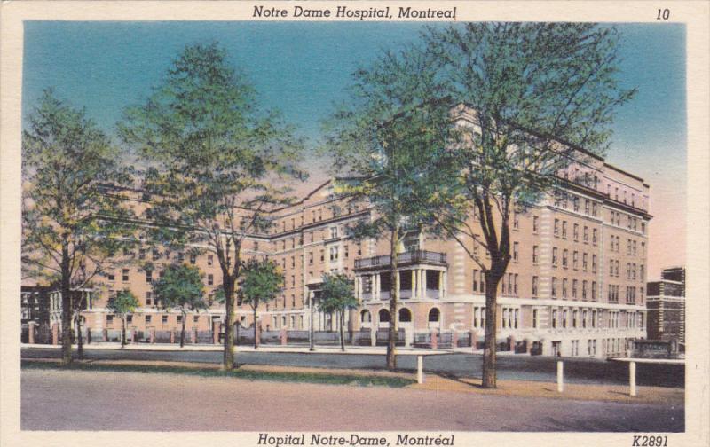 Notre Dame Hospital, MONTREAL, Quebec, Canada, PU-1949