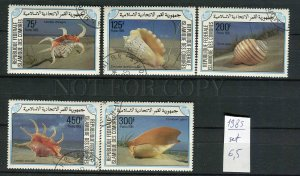 265129 Comoros 1985 year used stamps set SEA SHELLS