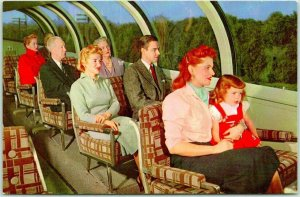 1940s UNION PACIFIC RAILROAD Postcard ASTRA DOME SCENE Train Travel / Unused