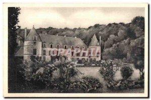 Old Postcard Chateau De Bussy Rabutin (Cote d Or) Facade of the Gardens