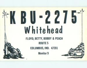 comic - QSL CB HAM RADIO CARD Columbus Indiana IN t9633