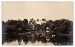 RPPC Salmon Lake House, North Belfast, Maine Real Photo Postcard