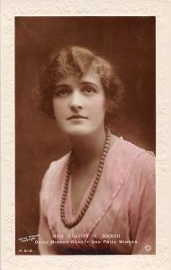 Miss Gladys M. Marsh, Daily Mirror Beauty 2nd Prize Winner, Embossed Real Photo
