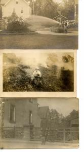 3 Real Photo Postcards (RPPC's) - Phineas Farrend, Jr & Dog; Tending Garden; ...