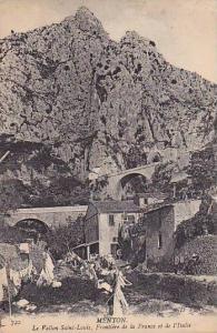 La Vallon Saint-Louis, Frontiere De La France Et De l'Italie, Menton (Alpes M...