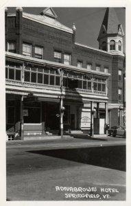 RP: SPRINGFIELD , Vermont, 1940s ; Adnabrown Hotel