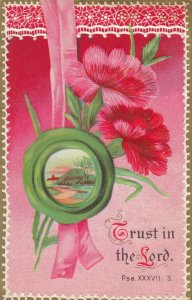 Embossed Flowers, 1900-10s; Trust in the Lord, Psa. XXXVII: 3