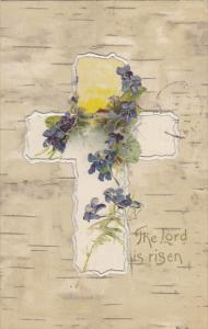 Easter Silver Cross With Flowers The Lord Is Risen 1908