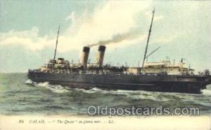 Calais - The queen Steamer, Steamers, Ship, Ships Postcard Postcards Unused