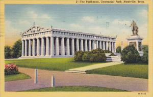 The Parthenon Centennial Park Nashville Tennessee 1951 Curteich