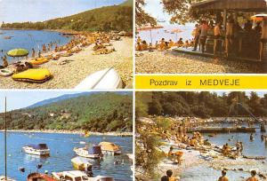 Croatia Pozdrav iz Medveje,Beach Plage Bateaux Boats 1987