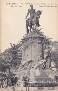 LILLE, General Faidherbe Statue, Place Richebe, Nord, France, 00-10s