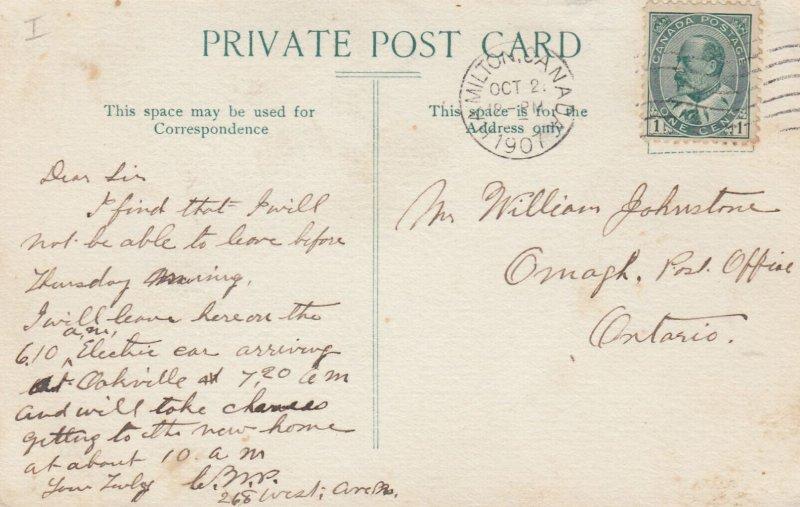 Bank Of Hamilton, Greetings From HAMILTON, Ontario, Canada, PU-1907