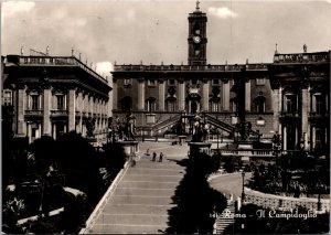 Roma Rome Italy Il Campidoglio Capitoline Hill vintage postcard