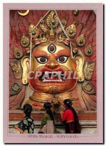 Postcard Modern White Bhairab Kathmandu