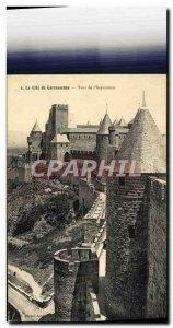 Old Postcard La Cite Carcassonne Tower i & # 39inquisition