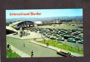 Mexico Border Crossing Customs Tijuana Mexico Baja California Postcard Cars CA