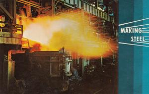 JOHNSTOWN , Pennsylvania , 1940-60s ; Making Steel