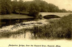 MA - Concord. Nashawtuc Bridge over Concord River