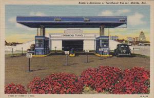 Eastern Entrance Of Bankhead Tunnel Mobile Alabama Curteich