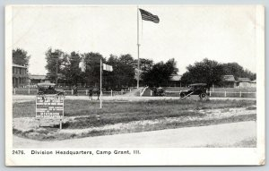 Camp Grant Illinois~WWI Division Headquarters~No Vehicles of Any Kind~Cars~c1917