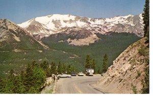 US    PC3975 PARKING AREA TRAIL RIDGE, RED MOUNTAIN, COLORADO