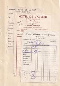 Hotel De La Semois Henri Braconnier Bouillon 1940s Receipt