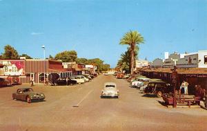 Scottsdale AZ~Main Street~Lulu Belle~Cafe~Movie Theatre Marquee~1950s Jaguar~Car