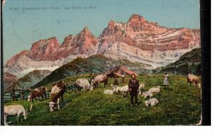 CHAMPERY, Switzerland, PU-1911; Les Dents Du Midi