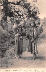 Egypt, Egypte, Africa Femmes Kabyles allant a a Fontaine  Femmes Kabyles alla...