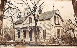 Hooper NE~Ella's House~Had Painters~Porch Parapet~Ornate Vergeboards 1911 RPPC