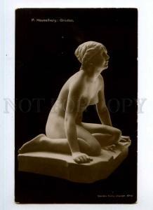 246292 NUDE Nymph Mermaid FROG by HASSELBERG Vintage Postcard