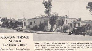 SAN DIEGO , California , 1920-30s ; Georgia Terrace Apartments ; Map
