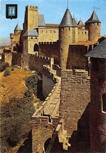 France L'Aude Carcassonne Cite Medievale Chateau Comtal, Porte, Castle
