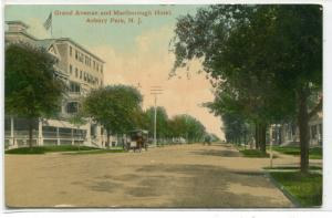Grand Avenue Marlborough hotel Asbury Park New Jersey 1910 postcard
