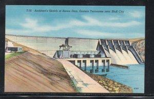 Tennessee colour PC Boone Dam near Bluff City, unused