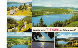 GG14463 Gruesse vom Titisee im Schwarzwald Campingplatz Wald Panorama Lac