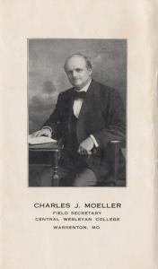 WARRENTON , Missouri, 1900-1910's; Central Wesleyan College Field Secretary