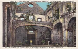 Ruins of Santo Domingo Church,  Showing the famous Flat Arch,  Panama City,  ...