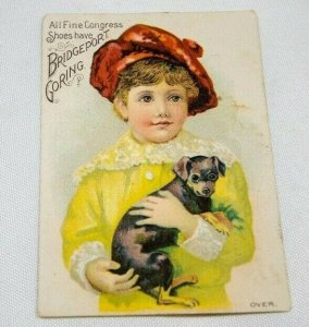 Vintage Trade Card BRIDGEPORT GORING CONGRESS FINE SHOES Insurance Certificate
