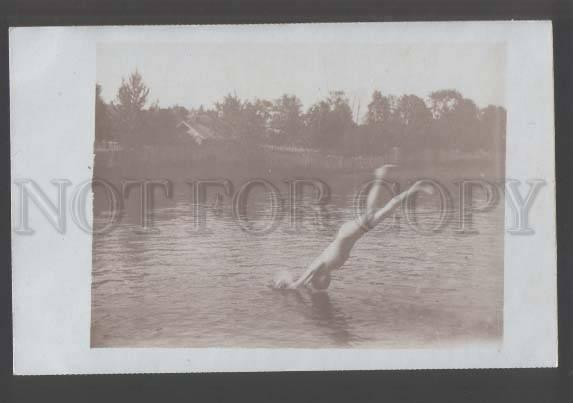 111223 NUDE Young Man Swimmer Vintage REAL PHOTO