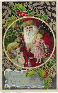 US Merry Christmas. Embossed Card 1912. Used with no postage. Nice.