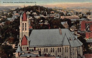 Bird's eye View, Wilkes-Barre, Pennsylvania, Early Postcard, Used in 1914