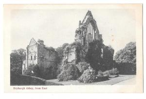 Scotland Dryburgh Abbey Ruins from East Vintage Postcard Sco