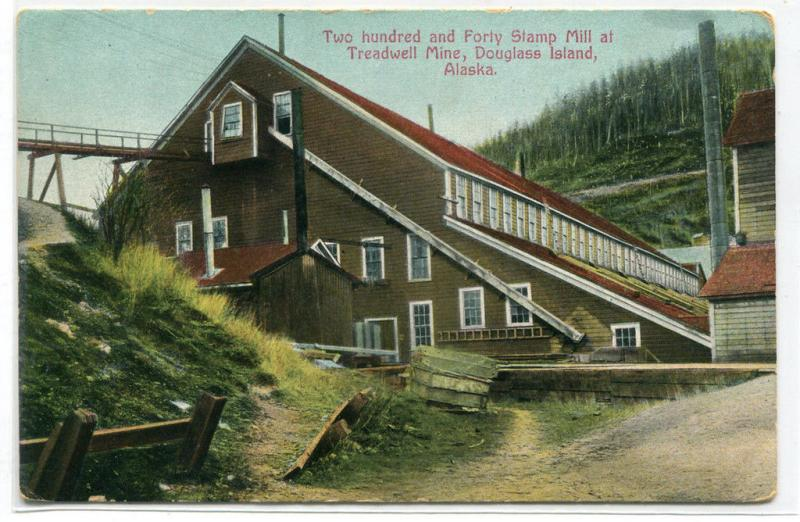 Stamp Mill Treadwell Gold Mine Douglass Island Alaska 1910c postcard