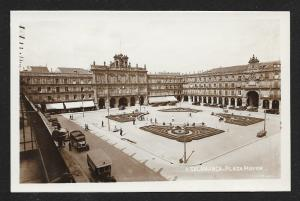 Plaza Mayor Salamanca Spain RPPC Unused c1920s